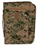 Battle Ready USMC Digital Woodland Zippered 3 Ring Binder And Padfolio