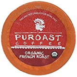 Puroast Coffee Low Acid Organic French Roast - 12 One Cup Single Serve Coffees - Keurig Compatible, 138gm