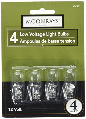 - Moonrays 95503 Low Voltage Light Bulbs/Wedge Base Light Bulbs (4-Watt, Clear, 4-Piece Pack)