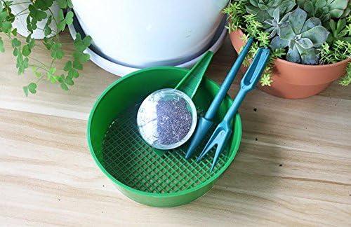Pflanzgef/ä/ß Pineocus Set mit 4 Gartensieb mit Samenspender Pikierer Aussaat-Set Pikier-Set Samen-/Übertopf-Set Gartenwerkzeug-Sets Breiter Setzlinge Kunststoff-Bodensieb f/ür Samen