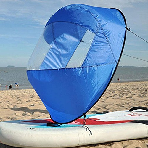 Flashsolar Blue 42'' Kayak Downwind Wind Sail, Foldable Popup Board Paddle Downwind Sail Kit for Kayaks, Canoes, Inflatable boats, Paddle Board by Flashsolar (Image #7)