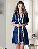 WWQY Women's Rayon Others Pajama , blue , l