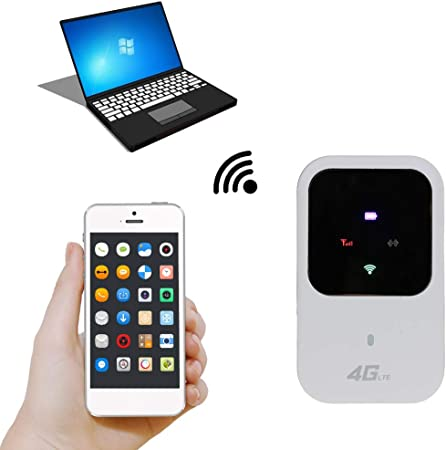 2100//1800Mhz MEIYIN Unlocked 4G WiFi Router 3G 4G LTE Portable Wireless Pocket WiFi Mobile Hotspot Car Wi-fi Router with Sim Card Slot with Display B1//3
