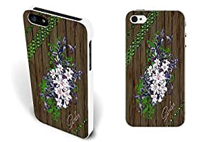 Retro Flower Wood Pattern Print Hard Protective For Ipod Touch 4 Phone Case Cover for Women (girly white 5233)