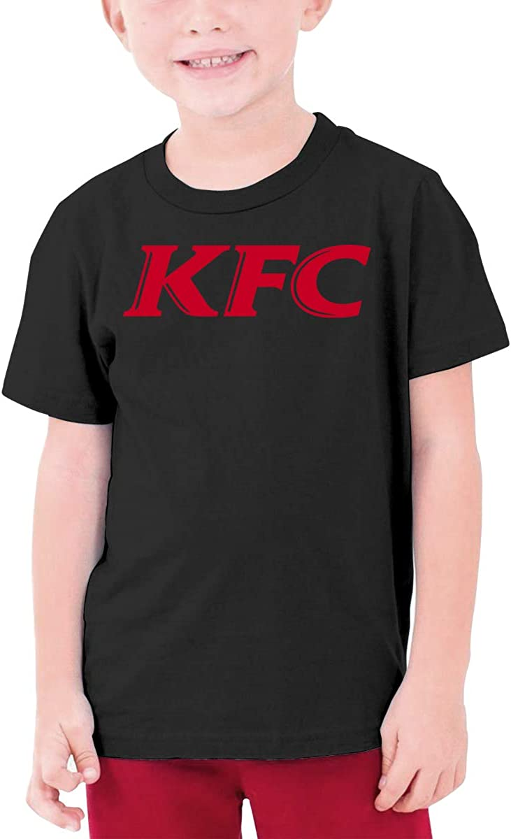 Nyanhif Personalized KFC Wordmark Funny T-Shirt O-Neck for Minor Black