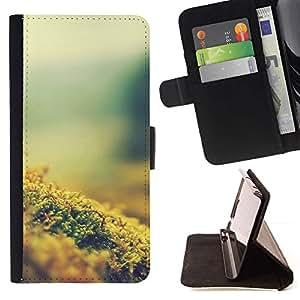 For Samsung Galaxy E5 E500 Case , Planta Naturaleza Forrest Flor 8- la tarjeta de Crédito Slots PU Funda de cuero Monedero caso cubierta de piel
