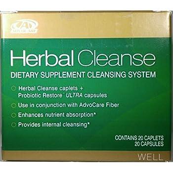 Amazon com: AdvoCare Herbal Cleanse & Fiber PEACHES & CREAM (kit