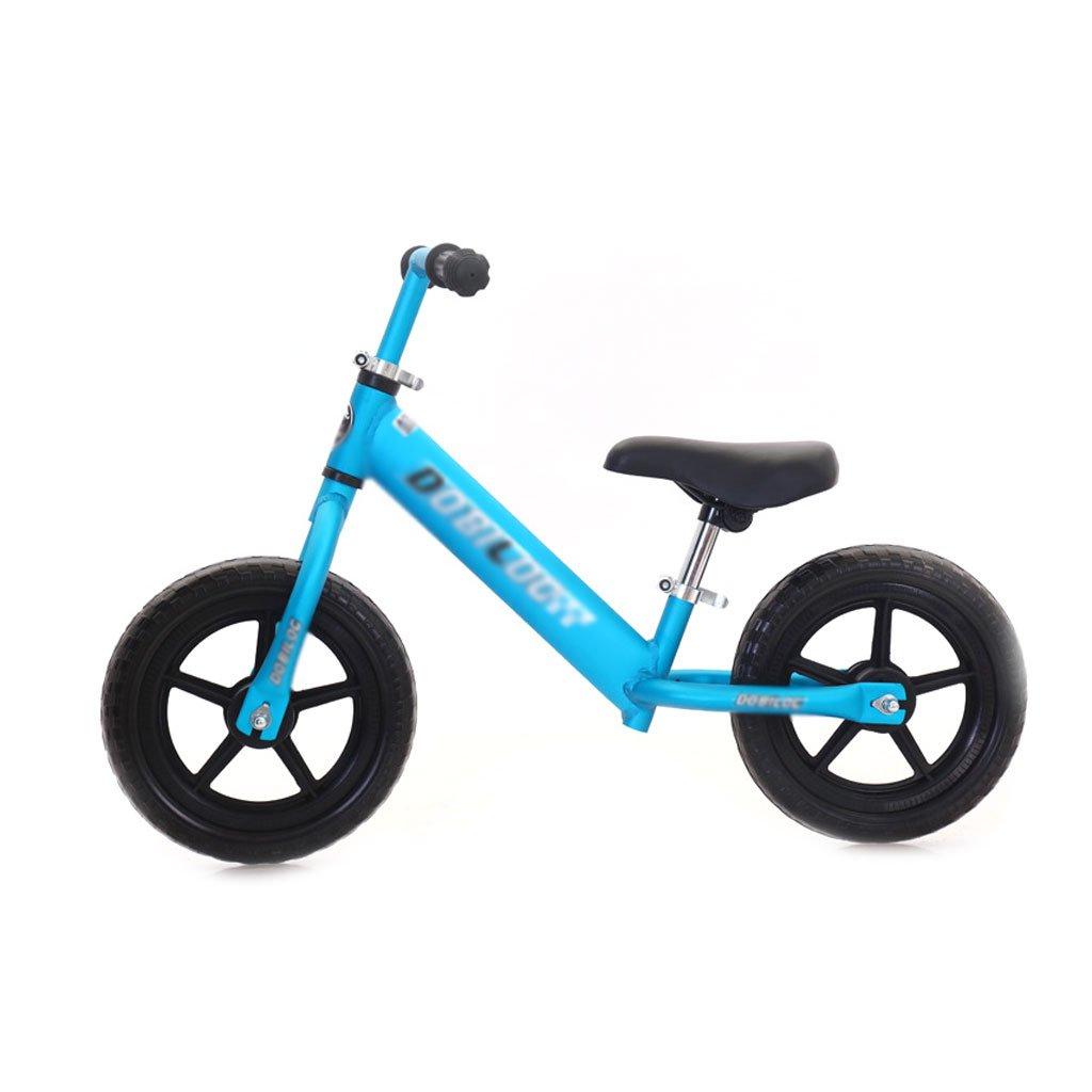 赤ちゃんのスクーターバランス車は、ペダルを使わずに子供のバランスの自転車を膨らませる必要はありませんバギー子供のスクーター2つのラウンドウォーカー子供のダブルホイール自転車12インチ2-6歳 B07F5HJ91D Blue Blue