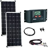 Offgridtec Solaranlage - Set Basic XL Steca PR3030 Laderegler, 200 W / 12 V, 002635