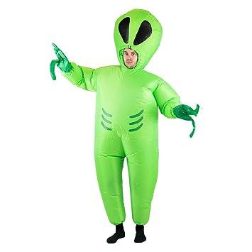 Bodysocks® Disfraz Hinchable de Extraterrestre Adulto