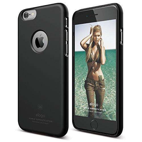 Price comparison product image iPhone 6S Case,  elago [Slim Fit][Soft Feel Black] - [Light][Minimalistic][True Fit] – for iPhone 6 / 6S