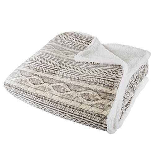 Super Soft and Fuzzy Heavy Warm Cozy Snuggle Sherpa Blanket