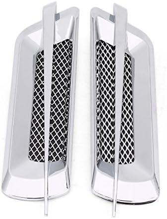 2pcs Air Flow Vent,Universal Car ABS Exterior Hood Side Door Air Flow Vent Cover Intake Grille Decorative Trim Sticker