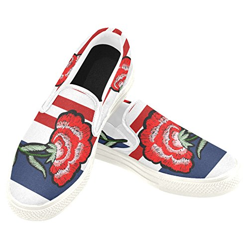 D-story Custom Sneaker Donna Slip-on Scarpe Di Tela Mullticolored5