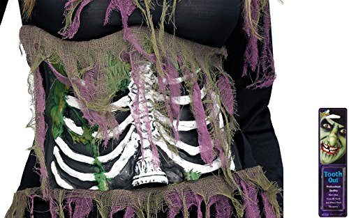 [Bundle: 2 Items - 3D Zombie Skeleton Belts and Free Pack of Makeup] (3d Skeleton Zombie Costumes)