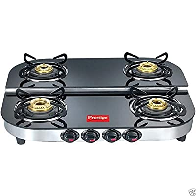 Kerala Nettipattam LPG Gas Stove Built In Glass Surface Cooktop Kitchen Range 4 Burner