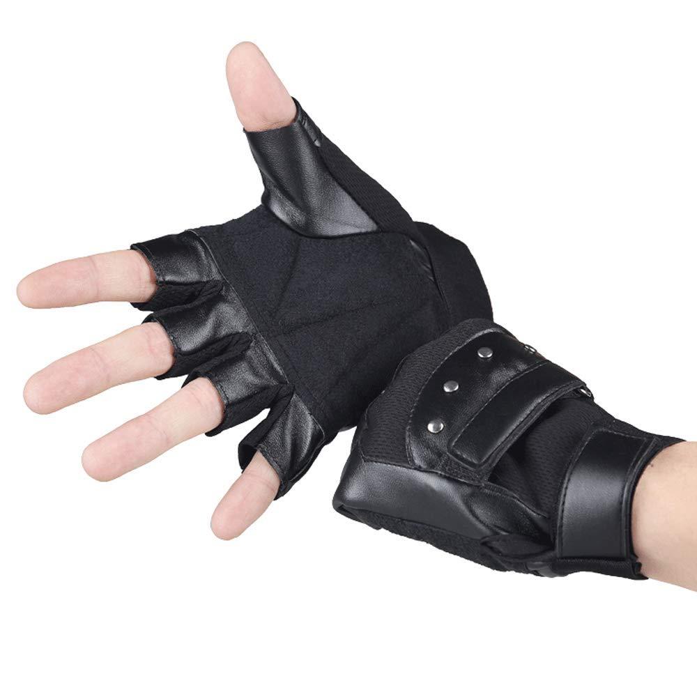 Handschuhe Color : Black XWCPDM Warme Halbfingerhandschuhe Für Herren Aus Leder Ohne Finger Im Herbst Und Winter Halbfingerhandschuhe Camping & Outdoor