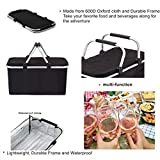 GGK Picnic Basket- Insulated Picnic Basket - BBQ