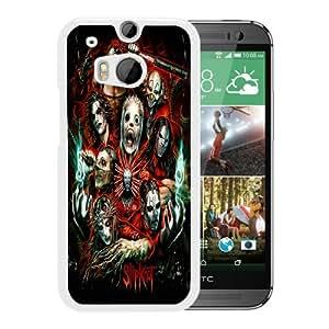 Silpkont White Hard Plastic HTC ONE M8 Phone Cover Case