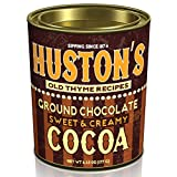 Hot Chocolate Cocoa Mix. Huston's Ground Chocolate Sweet & Creamy and Salted Caramel Cocoa Flavors In A 6.25 Oz. Oval Tin (Sweet & Creamy)