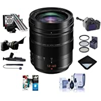 Panasonic Lumix G Leica DG Vario-Elmarit 12-60mm F/2.8-4.0 Aspherical Lens for Micro 4/3 Mount, Black - Bundle With 62mm Filter Kit, Flex Lens Shade, LensAlign MkII Focus Calibration System And More