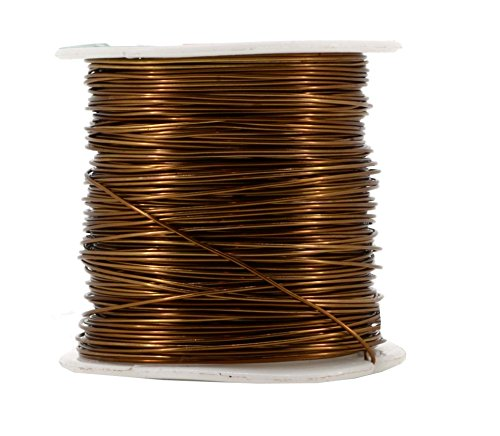 Mandala Crafts Anodized Aluminum Wire for Sculpting, Armature, Jewelry Making, Gem Metal Wrap, Garden, Colored and Soft, 1 Roll(20 Gauge, Brown) -