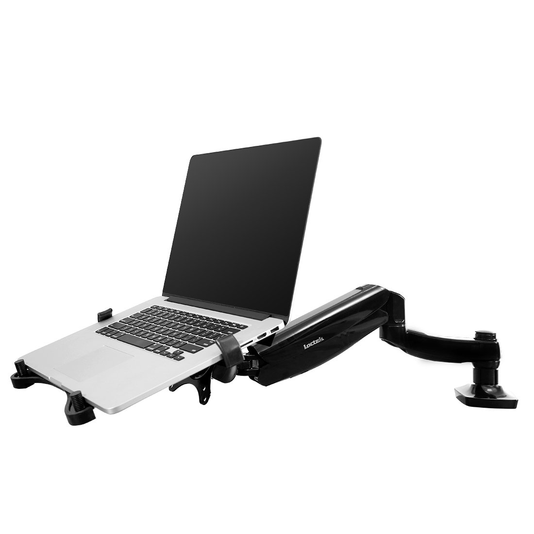 FLEXIMOUNTS 2-in-1 Monitor Arm Laptop Mount Stand Swivel Gas Spring LCD arm Desk mounts for 10''-24'' Computer Screen Monitor/ 11-17.3 inch Notebook