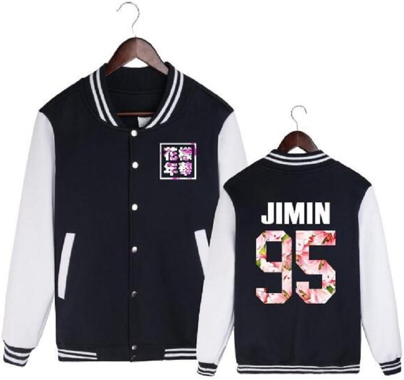 DHSPKN BTS in Boom Baseball Jacket Jungkook Jimin RM Suga V Sweater Coat
