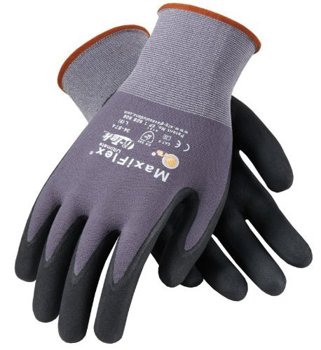 ATG 34-874/S MaxiFlex Ultimate - Nylon, Micro-Foam Nitrile Grip Gloves - Black/Gray - Small - 12 Pair Per Pack by ATG (Image #2)