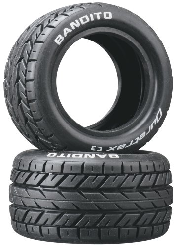 Duratrax Bandito 1:10 Scale RC 4WD Buggy Rear Tires with Foam Inserts, C3 Super Soft Compound, Unmounted (Set of 2)