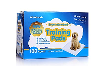 All-Absorb Training Pads 22-inch By 23-inch. from All-Absorb