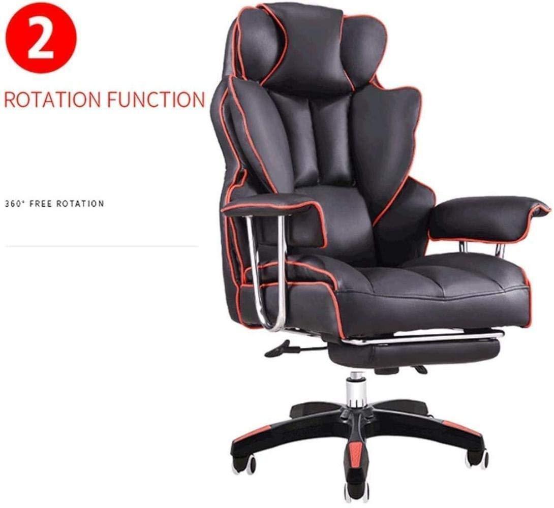 Skrivbordsstolar, ergonomisk kontorsstol datorstol justerbar E-sportstol spelstol chef stol soffa svängbar stol knästol (färg: Blå) BLÅ