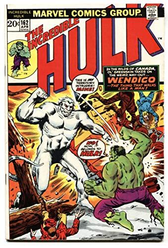 Incredible Hulk #162 1st appearance Wendigo comic book-marvel FN