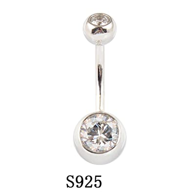 Hjljarily 925 Sterling Silver Belly Button Rings