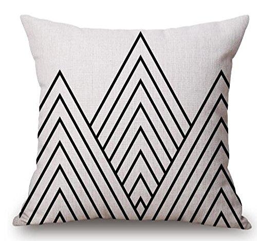 QINU KEONU Elephant Deer Mountains Cotton Linen Throw Pillow Case Cushion Cover Home Sofa Decorative 18 X 18 Inch (46)