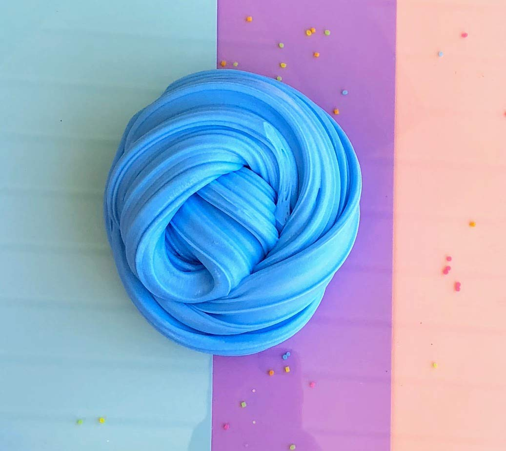Light blue fluffy butter slime