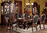 ACME 04075B-SET Chateau de Ville 7-Piece Formal Dining Set, Table/4 Chairs/2 Arm Chairs, Cherry Oak Finish