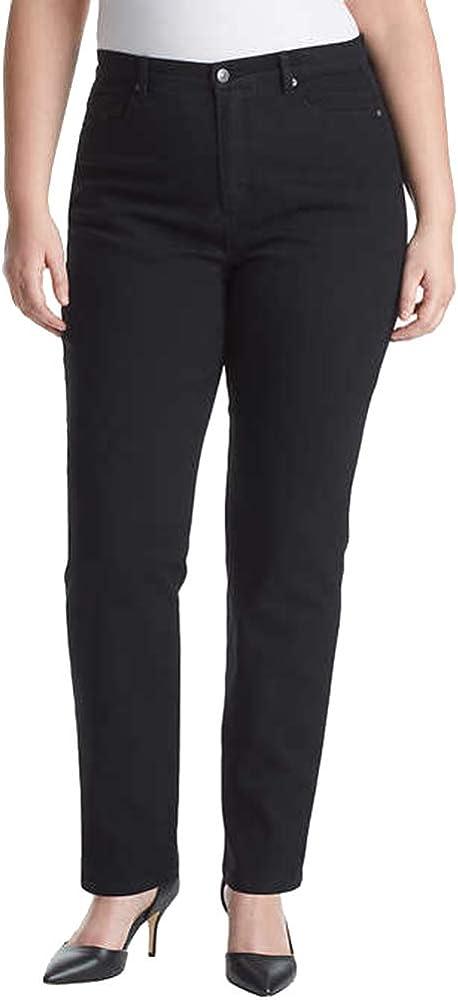 Amanda Stretch-Fit Jeans by Gloria Vanderbilt 10 Black 4 Short