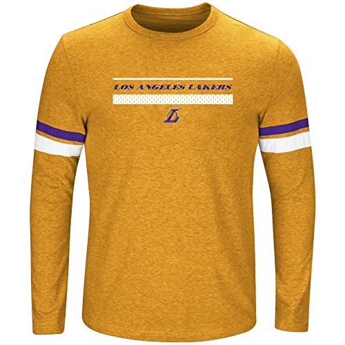 NBA Los Angeles Lakers Long Sleeve Screen Print Tee, Gold Heather/Purple, ()