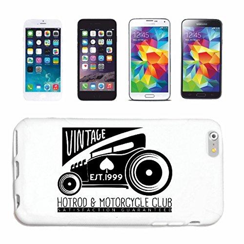 """cas de téléphone iPhone 6S """"HOTROD & MOTO CLUB VINTAGE HOT ROD CAR US Mucle CAR V8 ROUTE 66 USA AMÉRIQUE"""" Hard Case Cover Téléphone Covers Smart Cover pour Apple iPhone en blanc"""