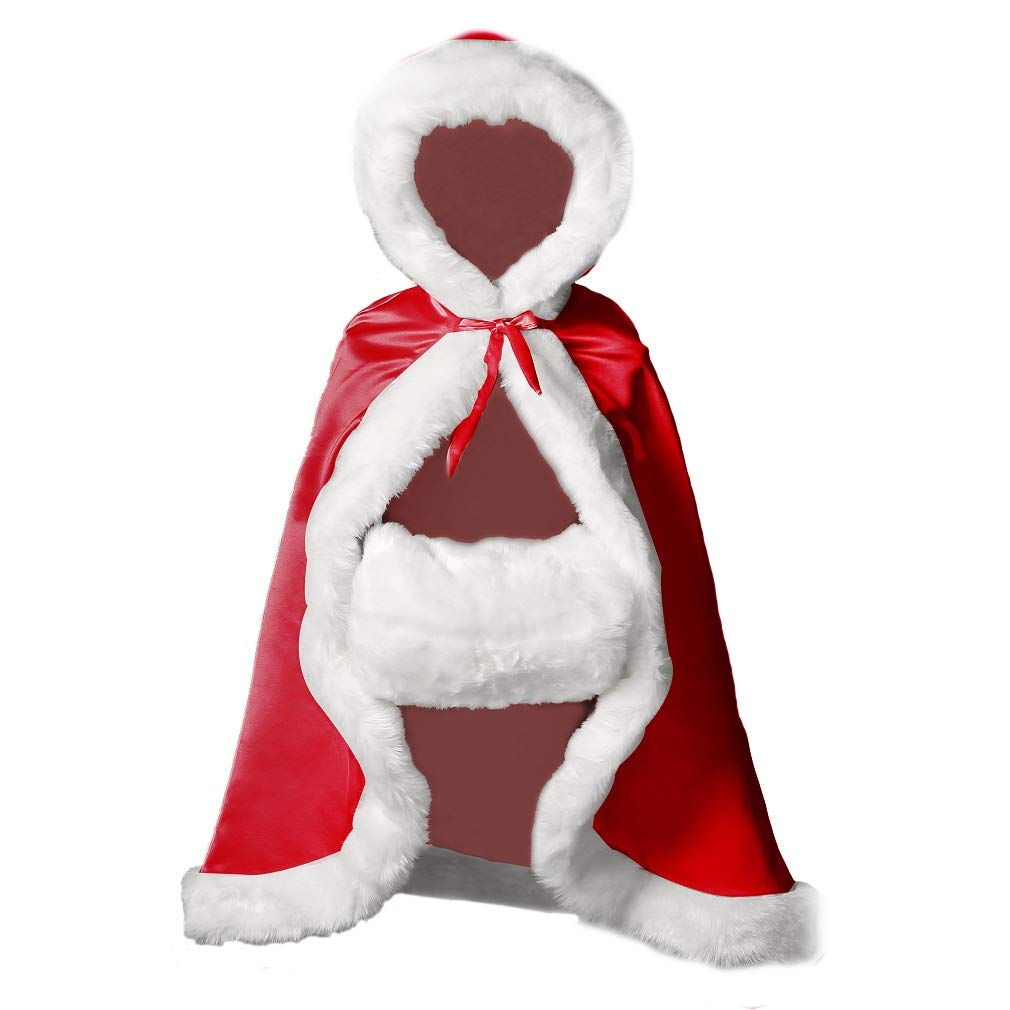 BEAUTELICATE Umhang Kinder Cape Mit Kapuze Winter Warm Kunstpelz Für Hochzeit Weihnachten Halloween Blaumenmädchen Junge B07H2VRQTT Kostüme für Kinder Genial | Luxus