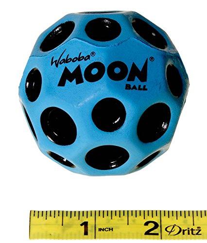 Waboba MOON Extreme Bounce Bundle of 4 Balls _ in 4 Neon Colors _ BONUS Soft Nylon Net Drawstring 9 x 12'' Royal Blue Carry Bag by Waboba (Image #8)
