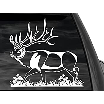 Amazoncom FGD Bull Elk Hunting Window Decal Car Truck SUV X - Rear window hunting decals for trucksamazoncom truck suv whitetail deer hunting rear window graphic