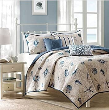 beach house bedding sale seashell nautical full queen quilt shams toss pillows piece bed sheets by croscill