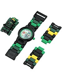 Ninjago Movie 8021100 Lloyd Kids Minifigure Link Buildable Watch | green/black| plastic | 28mm case diameter| analog quartz | boy girl | official