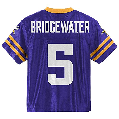 Outerstuff Teddy Bridgewater Minnesota Vikings Purple Toddler Player Home Jersey (Toddler 4T)