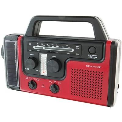 GPX Inc WeatherX WR383R Weatherband AM/FM Radio by Weather X