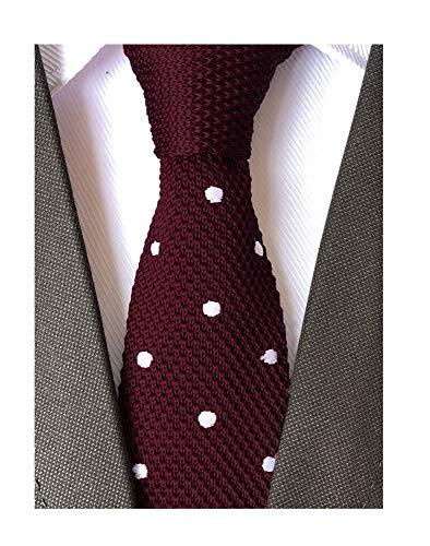 - Secdtie Men Burgundy Red Fashion Tie Stylish Wedding Necktie For Groom Groomsman