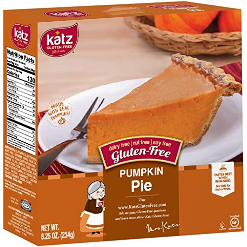 Katz Gluten Free Personal Size Pumpkin Pie | Dairy, Nut, Soy and Gluten Free | Kosher (1 Pack of 1 Pie, 8.25 Ounce)