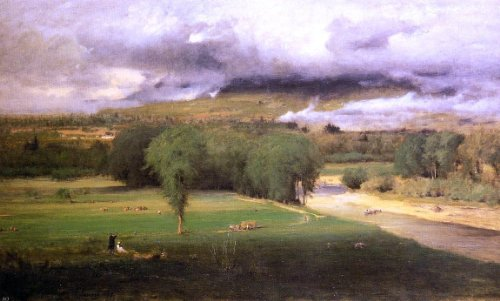 "George Inness Sacco Ford: Conway Meadows - 18.05"" x 27.05"" Peel & Stick Removable Wall Decal"
